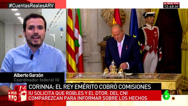 Alberto Garzón : 'Los Borbones son unos ladrones'