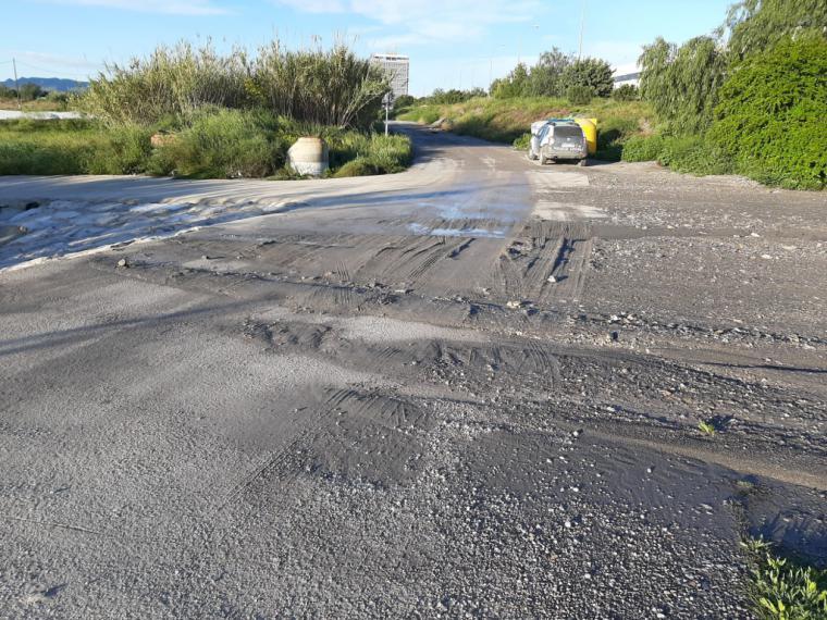 El Ayuntamiento de Lorca trabaja para arreglar los caminos que quedaron dañados por las fuertes lluvias de este domingo