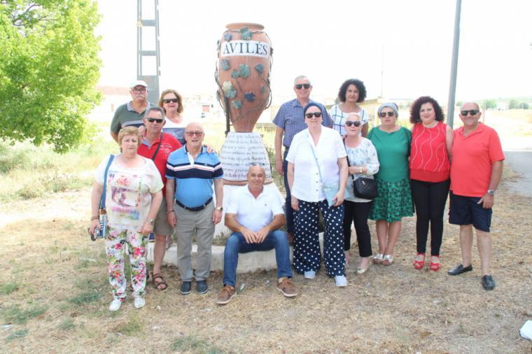 Una expedición de asturianos de Avilés visita la pedanía lorquina del mismo nombre