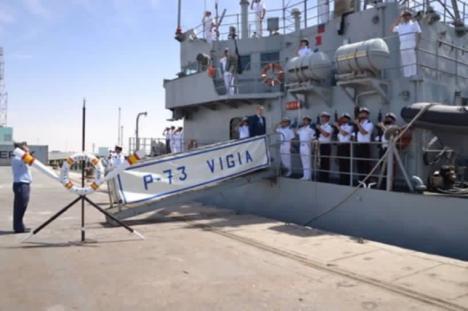 """El """"Vigía"""" realiza un ejercicio con un buque de la Marina Francesa en aguas del Golfo de Guinea"""