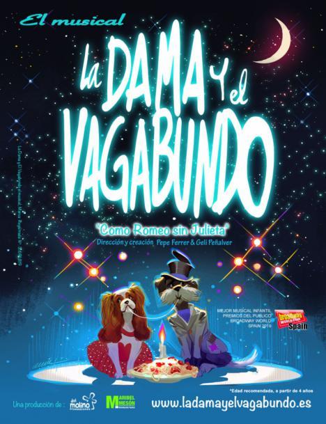"""""""La Dama y el Vagabundo"""", el mejor musical infantil del año, el lunes 7 en las Fiestas Patronales de Puerto Lumbreras"""