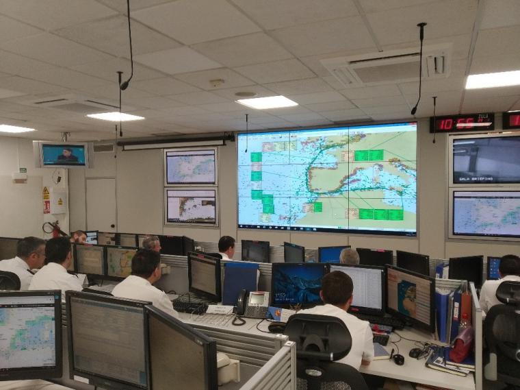 La Armada española ha liderado un ejercicio de intercambio de información que permitirá la mejora del conocimiento del entorno marítimo