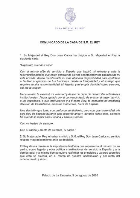 Juan Carlos I se autoexilia, sentencia la Transición y deja a su suerte una Monarquía hoy a la deriva con Felipe VI