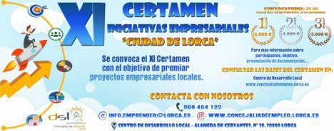 """Abierto el plazo para participar en el XI Certamen de Iniciativas Empresariales """"Ciudad de Lorca"""" convocado por el Ayuntamiento de Lorca"""