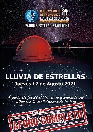 """Más de 200 lumbrerenses y visitantes disfrutarán el próximo jueves de """"La lluvia de estrellas"""" en el Cabezo de la Jara"""