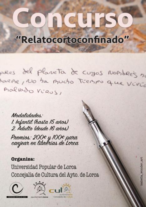 """La concejalía de Cultura pone en marcha el concurso """"RelatoCortoConfinado"""" en el que poder plasmar cómo están siendo los días de confinamiento"""