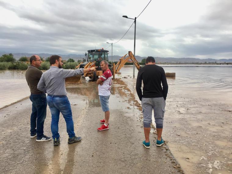 El Ayuntamiento de Lorca solicitará la declaración de 'zona catastrófica' para el municipio tras los daños sufridos por las últimas lluvias