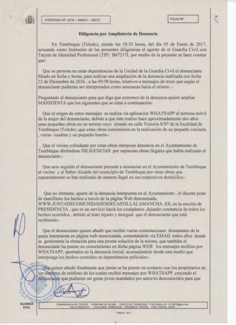 CARTA AL DIRECTOR DE BERNARDO TÉBAR MARTÍN