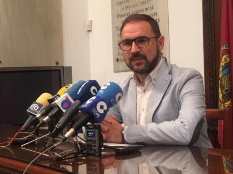 """El alcalde de Lorca se muestra confiado en el """"uso correcto"""" por parte de la CARM de los fondos procedentes del Banco Europeo de Inversiones para la recuperación de Lorca"""