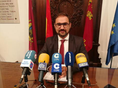 """El alcalde de Lorca recuerda que """"uno de los grandes retos de la legislatura es dar carpetazo definitivo a todos los asuntos relacionados con la reconstrucción de la ciudad"""""""