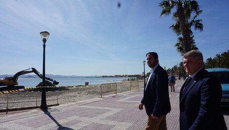 El delegado del Gobierno de Murcia, José Vélez asegura que el Gobierno de España agilizará los trabajos de recuperación de los daños causados por los temporales
