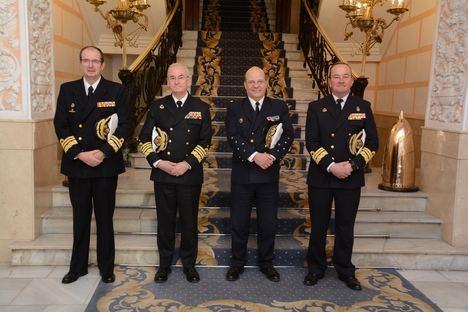 El Jefe de Estado Mayor de la Marina Nacional de Francia visita unidades de la Armada en Cartagena