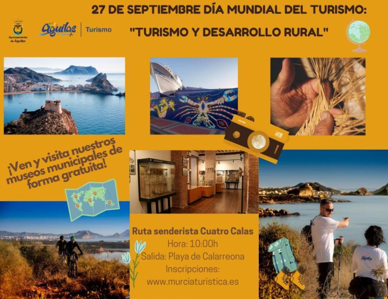 Águilas conmemora el próximo 27 de septiembre el Día Mundial del Turismo