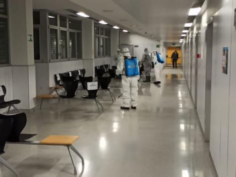 CSIF de Almería se congratula de que la quinta planta del Hospital de Poniente haya sido desalojada de pacientes y esté siendo desinfectada