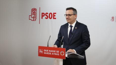 """Diego Conesa: """"Con la modificación de la Ley de Hacienda ponemos en bandeja al Gobierno regional la solución del soterramiento"""""""