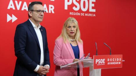 El PSOE presenta en la Asamblea Regional una batería de 44 preguntas para conocer la situación del pacto regional contra la violencia machista