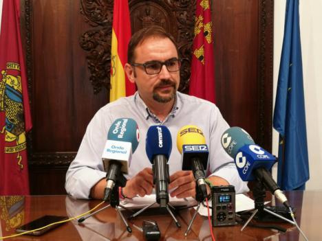 """El alcalde de Lorca, Diego José Mateos, insiste en que la terminación de las infraestructuras pendientes será """"uno de los caballos de batalla de los próximos meses"""""""