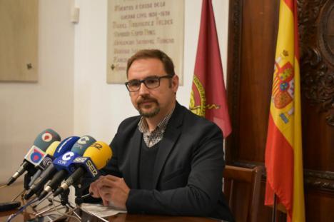 """Diego José Mateos: """"La cultura, el patrimonio y el turismo tienen que ser un motor esencial para Lorca y no seguir infravalorados"""""""