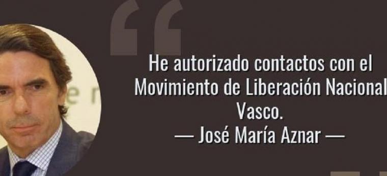 """' He autorizado contactos con el Movimiento de Liberación Vasco' 'La independencia vasca es legítima si no se impone por la fuerza"""". Jose María Aznar"""