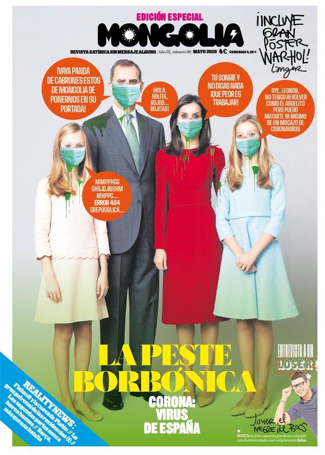 'Mongolia' retrata a la Familia Real en su portada, con la 'peste borbónica'