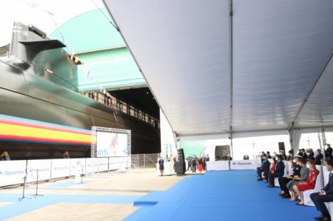 """El primer submarino de la Serie 80, """"Isaac Peral"""" fue amadrinado por la Princesa de Asturias, Leonor de Borbón, en una ceremonia celebrada en el Astillero cartagenero de Navantia"""
