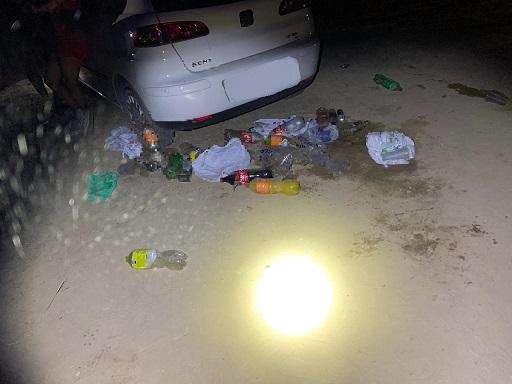 La Policía Local de Lorca localiza a una veintena de jóvenes que participaban en una fiesta en un paraje de difícil acceso situado en El Consejero