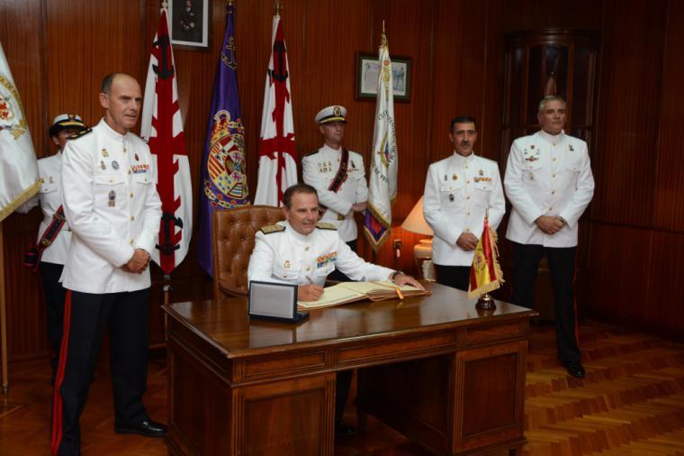 Acto Militar de despedida del Cuartel General de la Fuerza de Protección por traslado a Ferrol