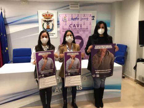 El Ayuntamiento de Águilas presenta la campaña conmemorativa del Día Internacional para la Eliminación de la Violencia contra las Mujeres