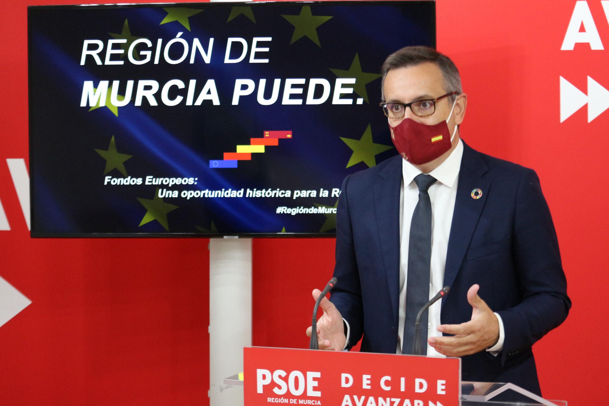 El PSOE solicita un pleno monográfico sobre la aplicación de los fondos europeos como palanca de modernización de la Región