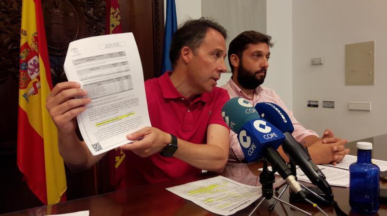 La gestión económica del PP permitirá a Lorca cerrar 2019 con el mejor dato de deuda de los últimos 20 años, mejorando en 69 millones la provocada por el PSOE