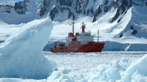 """Campaña Antártica Española : El Buque de Investigación Oceanográfica """"Hespérides"""" contribuirá al dispositivo de búsqueda de los restos del avión siniestrado en el mar de Hoces"""