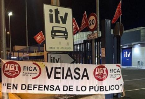 """UGT-FICA denuncia que tras el éxito de la huelga en las ITV Andaluzas la respuesta de la Direccion de VEIASA sea """"esquirolismo patronal"""""""
