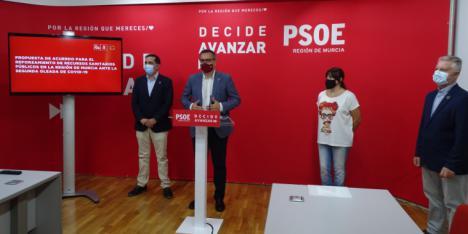 El PSOE pone a disposición del Gobierno regional su grupo de profesionales de Sanidad para consensuar un acuerdo para reforzar el sistema sanitario de la Región de Murcia