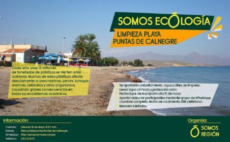 SOMOS REGIÓN se pretende concienciar a toda la población de la necesidad de proteger las playas y el medioambiente