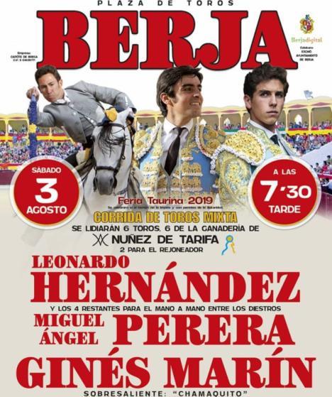 Hoy en Berja mano a mano entre Miguel Angel Perera y Gines Martín