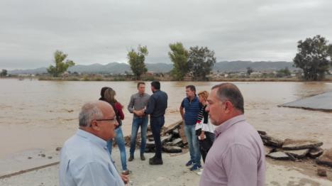 El PP de Lorca reclama que el gobierno central asuma los gastos de las reparaciones de los daños por las lluvias y agilice el pago de las ayudas a los damnificados