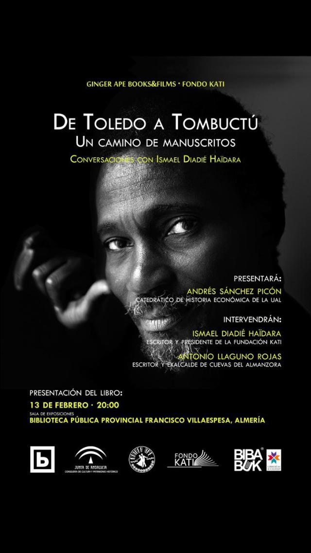 Hoy Jueves a las ocho de la tarde se presenta: 'De Toledo a Tombuctú. Un camino de manuscritos'
