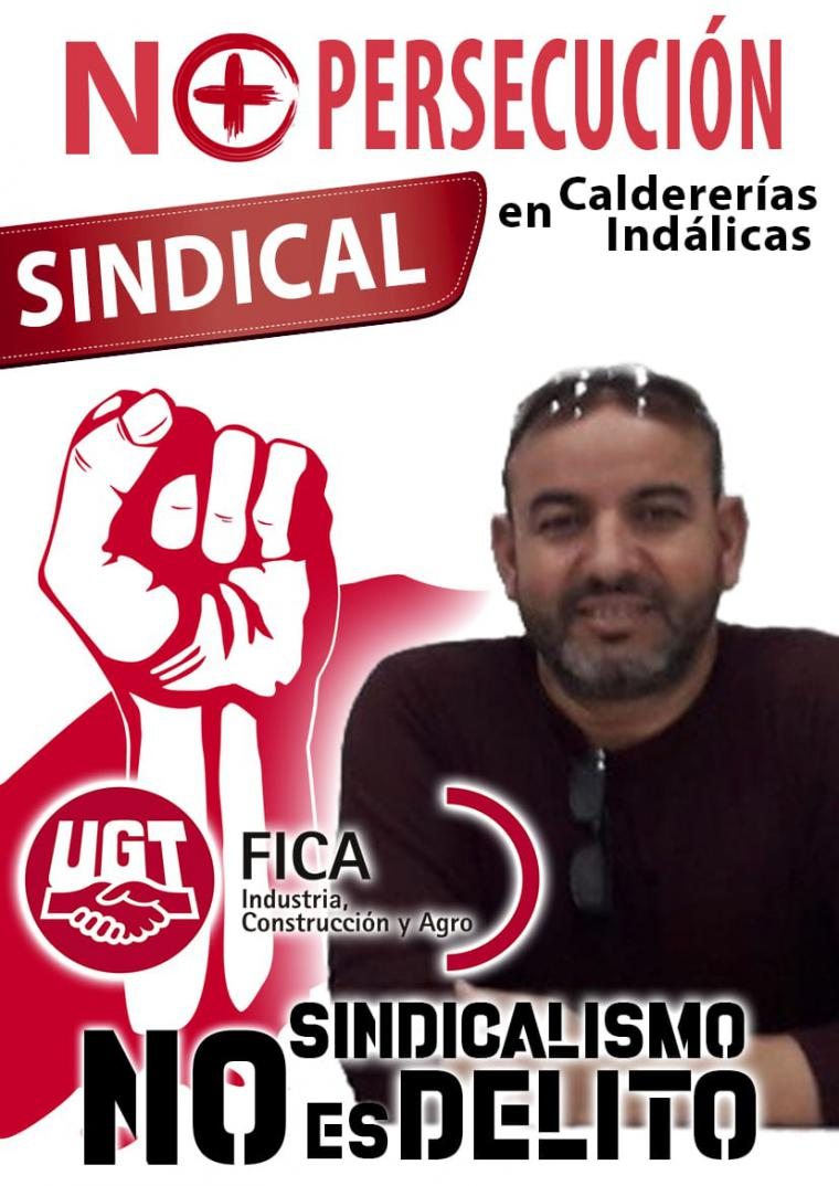 Condenada Caldererías Indálicas, S.L. por el despido improcedente al Secretario General de UGT-FICA Melilla