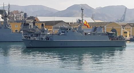 """El cazaminas """"Duero"""" (M-35) regresa a Cartagena tras participar en la Agrupación Permanente de Medidas Contra Minas nº2 de la OTAN"""