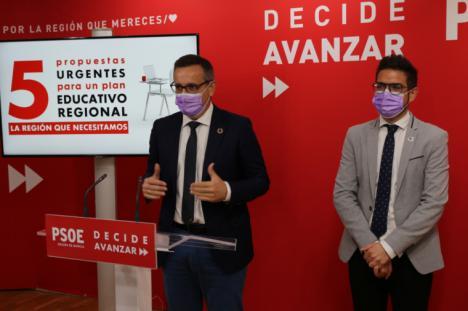 """Diego Conesa: """"La Región necesita un plan educativo urgente que contemple la presencialidad total en las aulas y los recursos necesarios"""""""