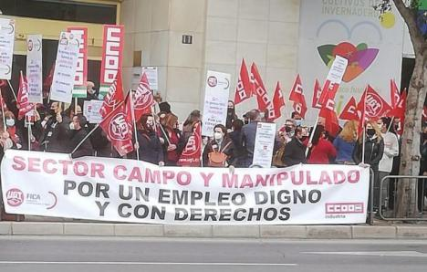 UGT Y CCOO hacen un llamamiento para participar en la Huelga convocada en el sector del manipulado y del campo