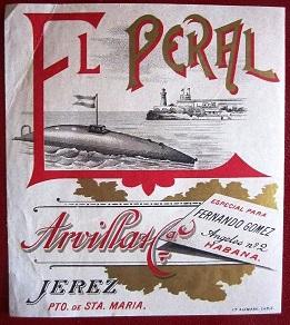 Etiquetas de bebidas dedicadas a Isaac Peral, por Diego Quevedo, Alférez de Navío (R)