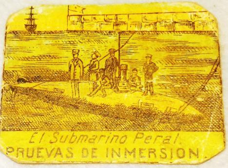 'Cajas de cerillas conmemoran la primera inmersión del Submarino Peral en 1889', por Diego Quevedo, Alférez de Navío ®