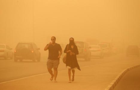 El municipio de Lorca registra un incremento de los niveles de PM10 debido a una fuerte intrusión de polvo sahariano