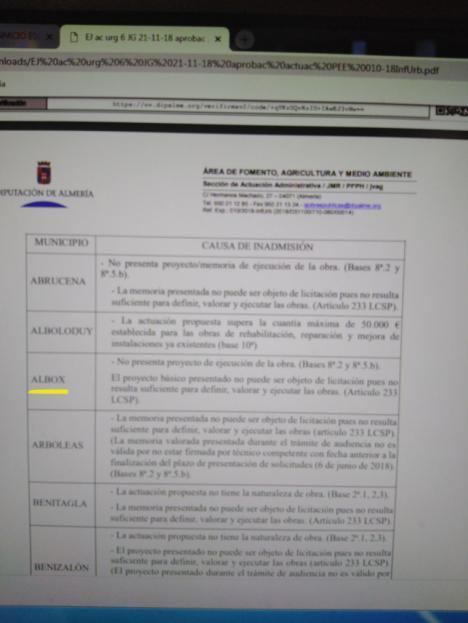 Albox pierde el Espacio Escénico por la negativa gestión de Torrecillas, denuncia Tito Carrillo Secretario General del PSOE.