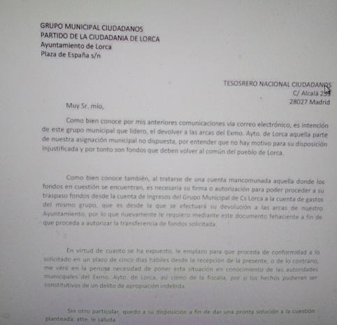 Entrevista. Antonio Meca: 'El dinero de los lorquinos no es para pagarle las campañas a Albert Rivera'