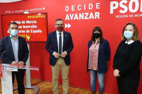 """Diego Conesa: """"Los PGE son los que la Región necesita y se merece, y los más sociales de la historia de España para este momento excepcional"""""""