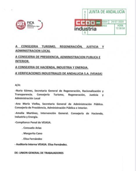 ULTIMA HORA : Alarma en la Junta de Andalucía por la deriva de presunta ilegalidad de la Dirección de VEIASA