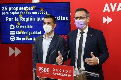 El PSOE propone un pleno monográfico en la Asamblea para consensuar los proyectos regionales financiados con fondos europeos