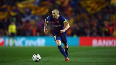 El capitán del Barcelona Andrés Iniesta, se va